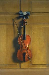 violin on door