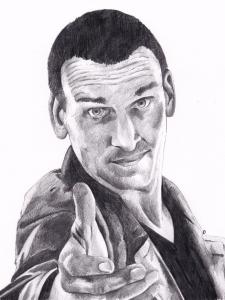 Christoper Eccleston as Doctor Who Pencil