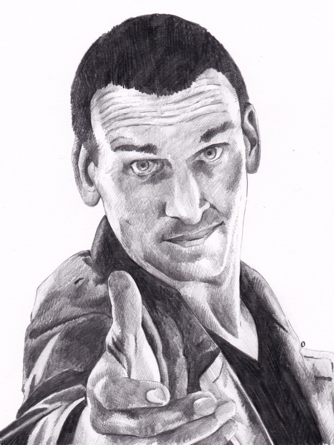 Christoper Eccleston as Doctor Who Pencil