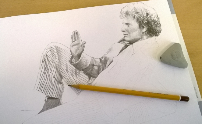 Colin Baker almost finished.