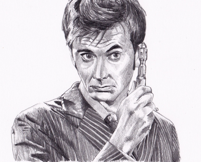 David Tennant as Doctor Who.