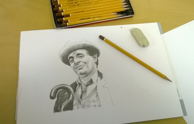 Sylvester McCoy almost finished