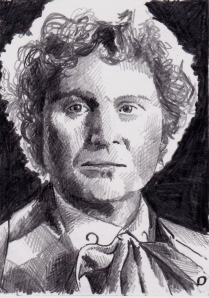 Colin Baker as the sixth Doctor Who