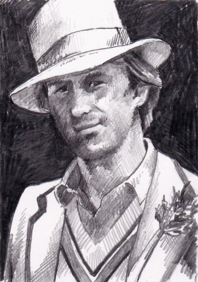 Peter Davison as the Fifth Doctor Who