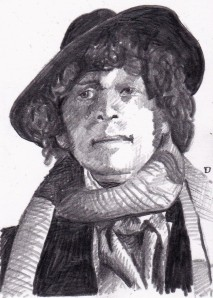 Tom Baker as the fourth Doctor Who